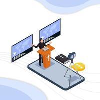 pastore facendo sermone sulla tecnologia mobile