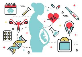 Pacchetto di vettore di mamma incinta