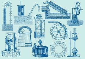 Macchine per l'acqua vettore
