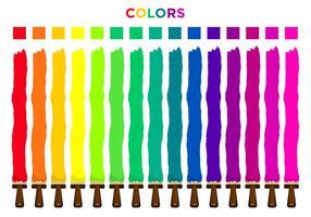 Set di selezione colori vettore