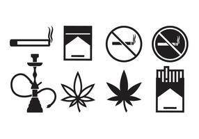 Icone di fumare gratis vettore