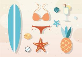 Elementi ed accessori estivi vettoriali gratis