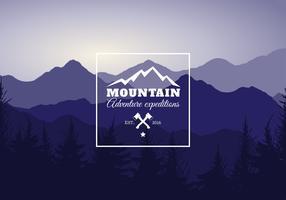 Illustrazione vettoriale di paesaggio di montagna
