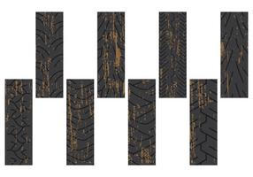 Marchi di pneumatici sporchi