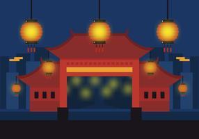 vettore città cinese