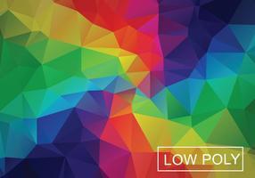 Vettore geometrico basso dell'illustrazione di stile dell'arcobaleno dell'arcobaleno