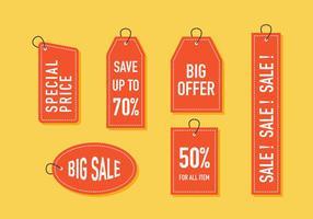 Tag di vendita vettoriale