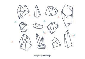 Vettore di cristalli geometrici