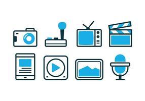Set di icone multimediali gratuito vettore