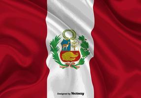 illustrazione di bandiera del Perù vettore