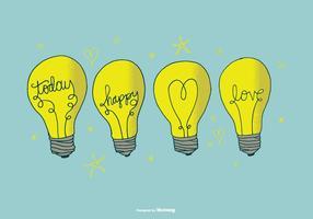 Vettori disegnati a mano della lampadina