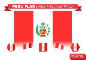 Pacchetto di vettore libero bandiera Perù