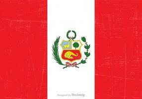Vettore di bandiera di stato Perù gratis grunge