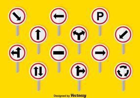 I segnali stradali hanno fissato il vettore