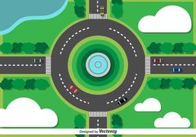Traffico cittadino di rotatoria di vettore