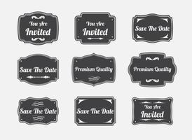 Vettori di etichette vintage Cartouche