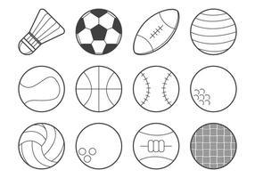 Vettore dell'icona della palla di sport