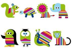 Pacchetto di animali vettore dei cartoni animati