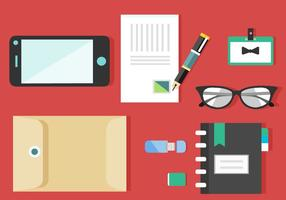 Set di icone di design piatto gratuito del vettore di affari