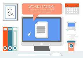 Elementi vettoriali gratis ufficio affari piatta