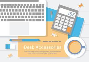 Accessori da scrivania gratuiti vettore
