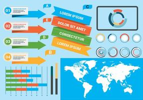 Illustrazione di vettore di elementi di infografica gratis