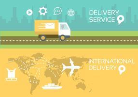 Illustrazione vettoriale di servizio postale
