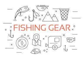Vector Set di attrezzi da pesca