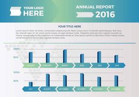 Presentazione vettoriale del rapporto annuale gratuito 2