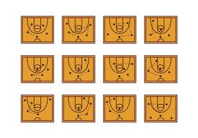 Icona del playbook della pallacanestro