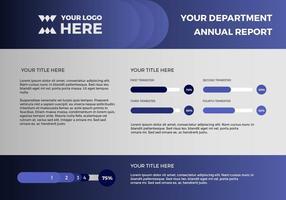Presentazione vettoriale del rapporto annuale gratuito 13