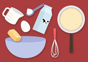 Vettore degli ingredienti del pancake