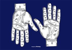 vettore inciso mani - disegno a tratteggio
