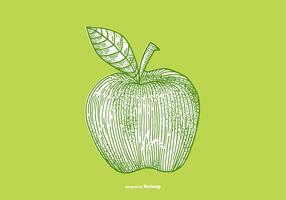 disegno della mela vettore