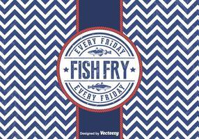 Distintivo di pesce fritto di venerdì di vettore gratis
