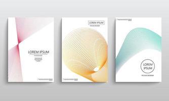 elementi geometrici per brochure vettore