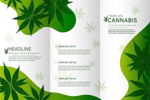 modello di brochure di cannabis vettore