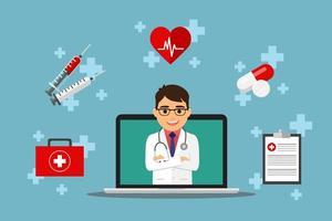 consultazione medica online con medico maschio