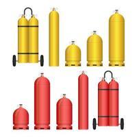 set di bombole di gas vettore