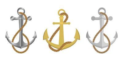 vettore di ancoraggio su sfondo bianco