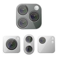 fotocamera posteriore smartphone isolata su sfondo bianco