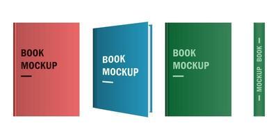 mockup libro a colori isolato su sfondo bianco