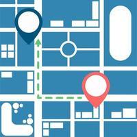 progettazione della mappa del navigatore dei gps vettore