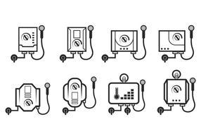 Set di vettore del riscaldatore di acqua