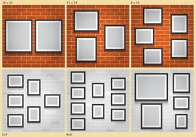 muri di collage vettore