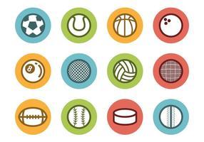 Vettore libero delle icone della sfera di sport