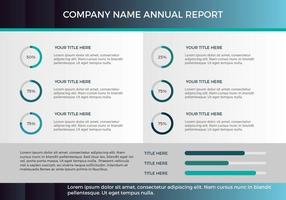 Presentazione vettoriale del rapporto annuale 17