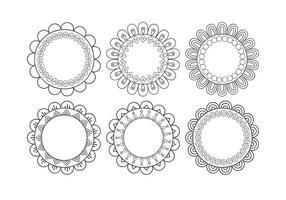 Forme di fiori decorativi vettore