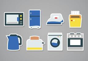 Icone dell'autoadesivo degli elettrodomestici gratis vettore