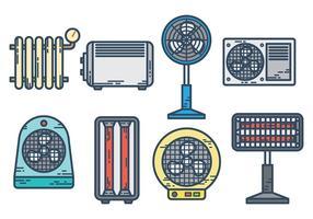 Vettore libero delle icone del radiatore